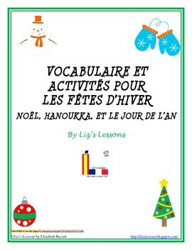 The documents include 95 holiday vocabulary words and 13 greeting card expressions. Students can use the instruction sheet with screen shots to make virtual greeting cards online. The document also includes a holiday word search and a double puzzle with answer keys, and a blank holiday bingo board. Finally, there are 65 French holiday writing prompts for you to use with your students at all levels!