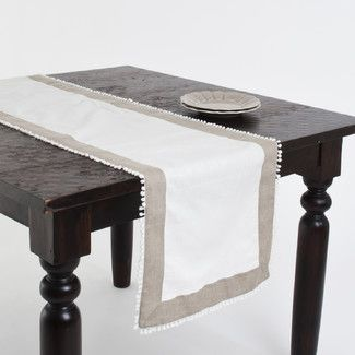 Found it at AllModern - Saro Tuscany Two Tone Table Runner