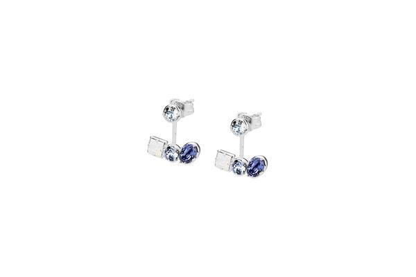 925   COLORI   G9CL21   Brosway  #orecchini #earrings #gioielli #jewelry #violet #viola #silver #argento