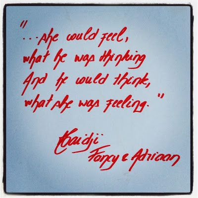 Haidji: Feeling x Thinking - Book Quote - Fancy & Adriaan ...