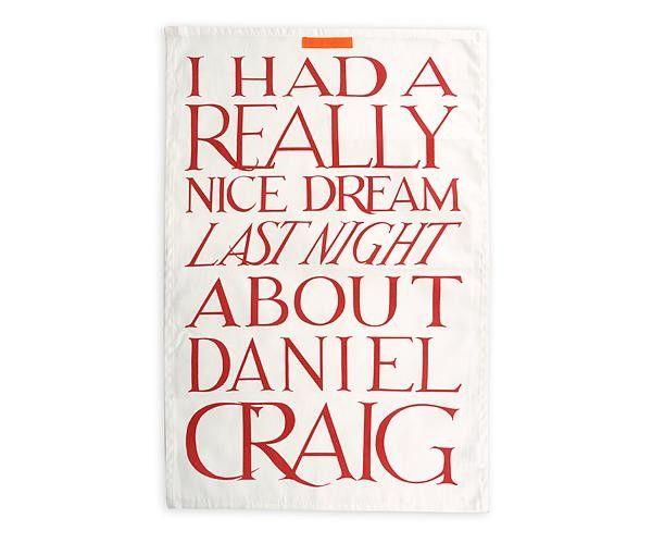 ♥ Daniel Craig Tea Towel ♥