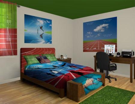 Menu0027s And Teen Boy Track Athlete Bedroom At Http://www.visionbedding. Boys  Bedroom DecorTeen Boy BedroomsBoy RoomsCollege Dorm ... Part 43