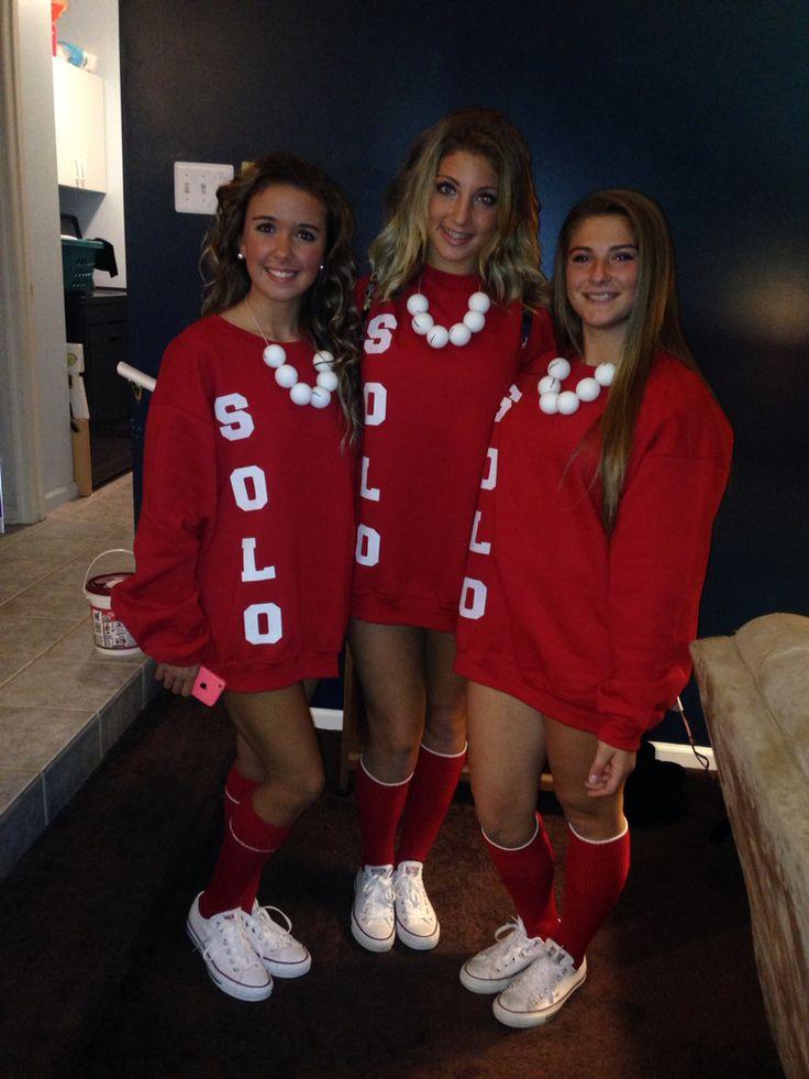 Dude Meeeee Red Solo Cup costumes. DIY. Dainty New Costumes this Season! Halloween parties