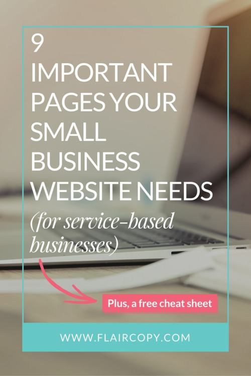 The 9 most important pages your small business website needs (for service-based businesses)
