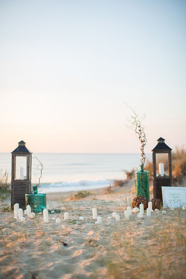 simple decorations for a beach ceremony. #wedding #zappos