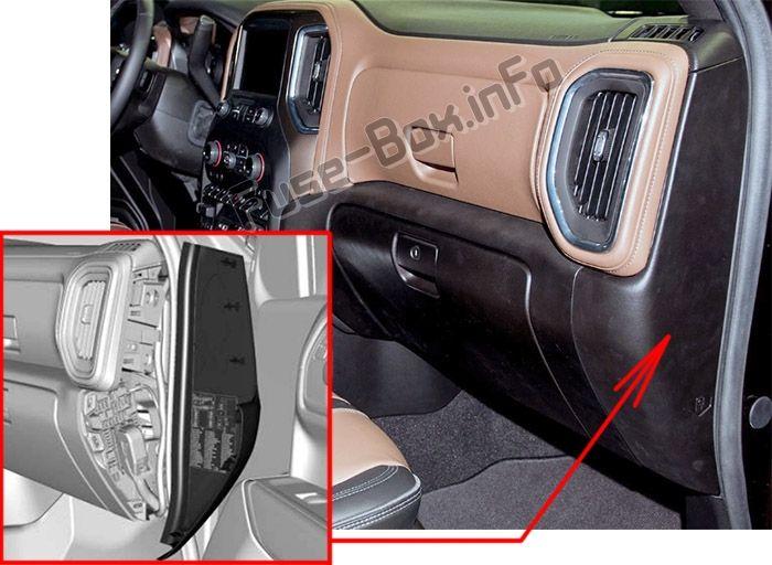 [ANLQ_8698]  Chevrolet Silverado (mk4; 2019-..) < Fuse Box location | Chevrolet, Chevrolet  silverado, Fuse box | Chevy Silverado Fuse Box Relocation |  | Pinterest
