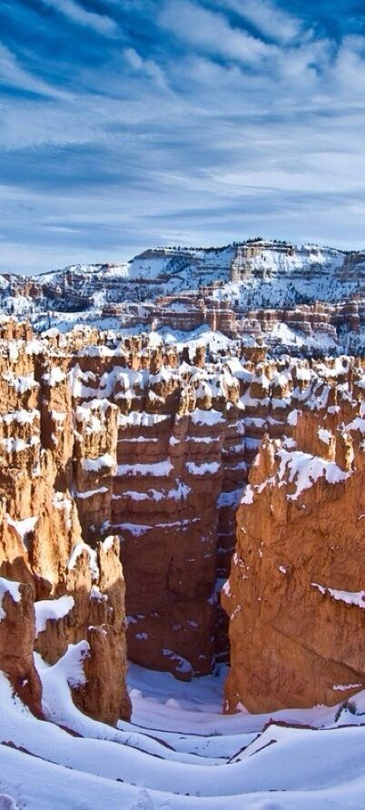 Snowy Bryce Canyon in Utah