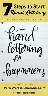 How to start hand lettering. Helpful guide for beginners.