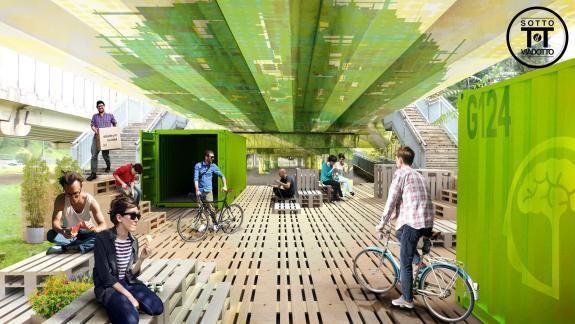 Bajo el viaducto Revitalización de entornos urbanos marginales por-morethangreen-more than green