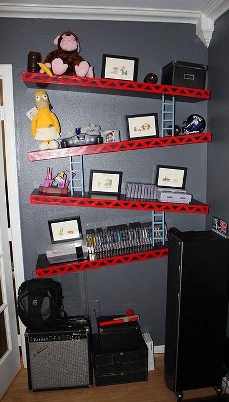 Donkey Kong book shelves