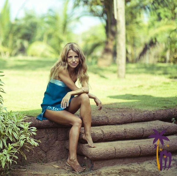 Blue Silk Chiffon Tube Dress by Miss monkey.
