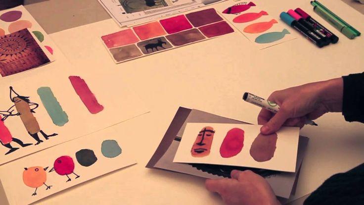 Anvendelse af farveklatter - Britta Johanson viser, hvad man kan bruge farveklatter til