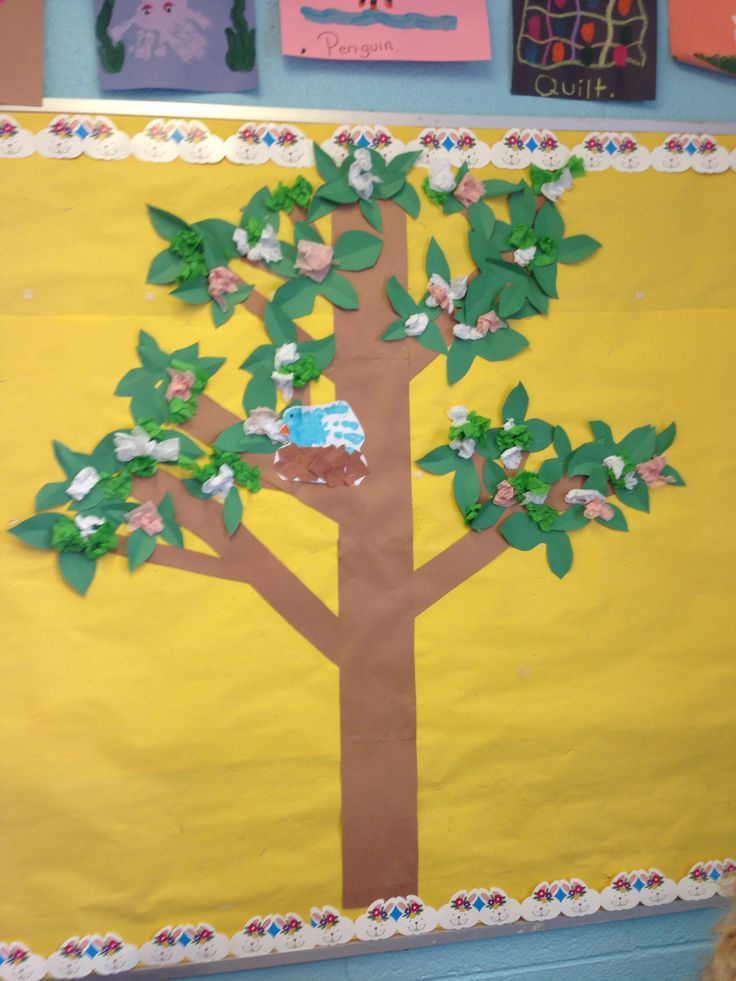 Best 25 bird bulletin boards ideas on pinterest spring for Classroom mural ideas