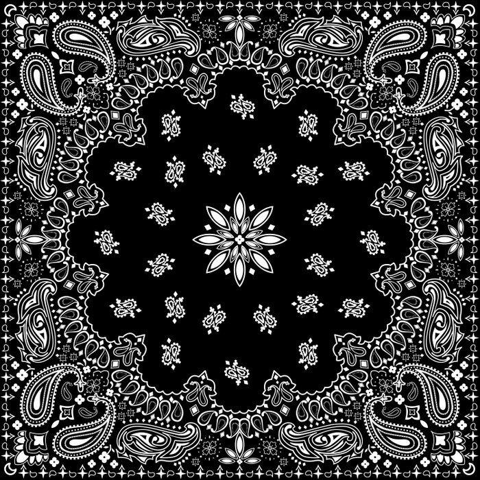 Black And White Bandana Pattern Comforters Bandana Design Bandana Black