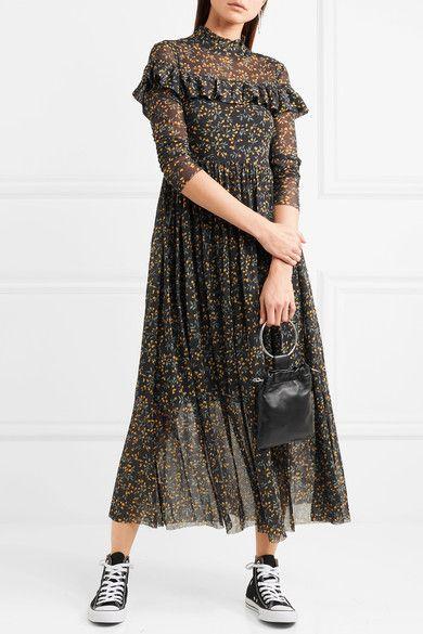 81de39fb11b GANNI Tilden ruffled floral-print mesh maxi dress  270 There s not one  piece in GANNI s