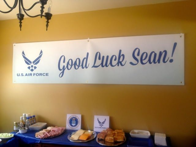 air force going away party ideas | Air Force Going Away Party | Affichomanie