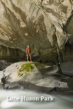 Little Huson Park - Vancouver Island North (on the road to Zeballos) these caves are suitable for inexperienced cavers