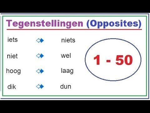 Tegenstellingen    Dutch opposites    1 - 50