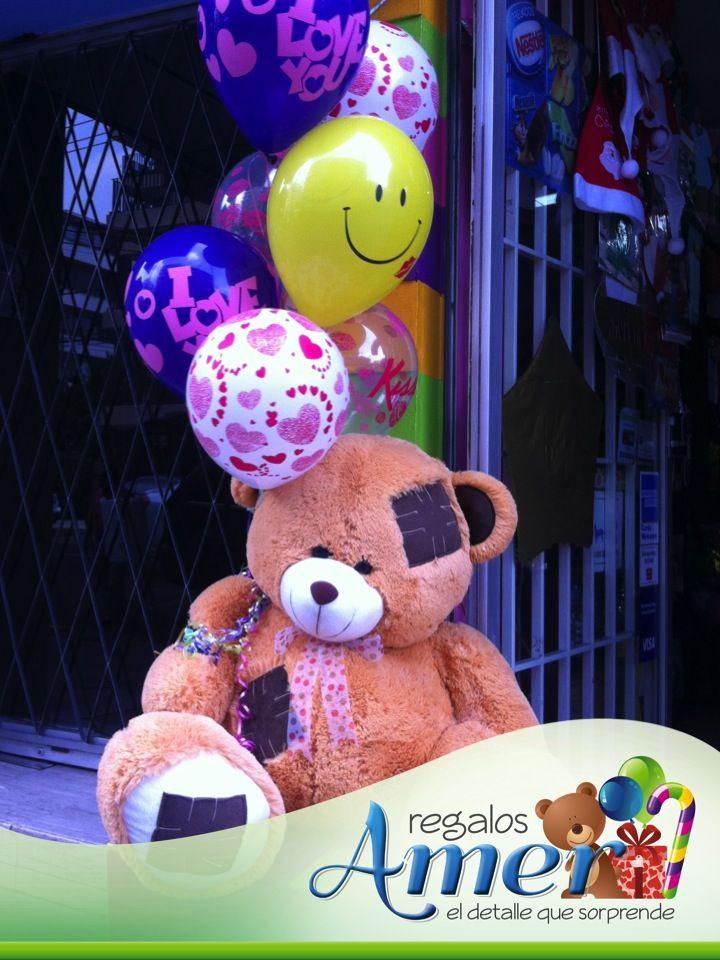 Oso de peluche, tierno y abrazable. envíos a domicilio. www.regalosamer.com.mx