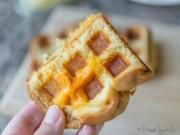 Waffle Iron Grilled Cheese Sandwich. I made this 1/23/16. It was easy, quick, and both of us thought it was delicious!