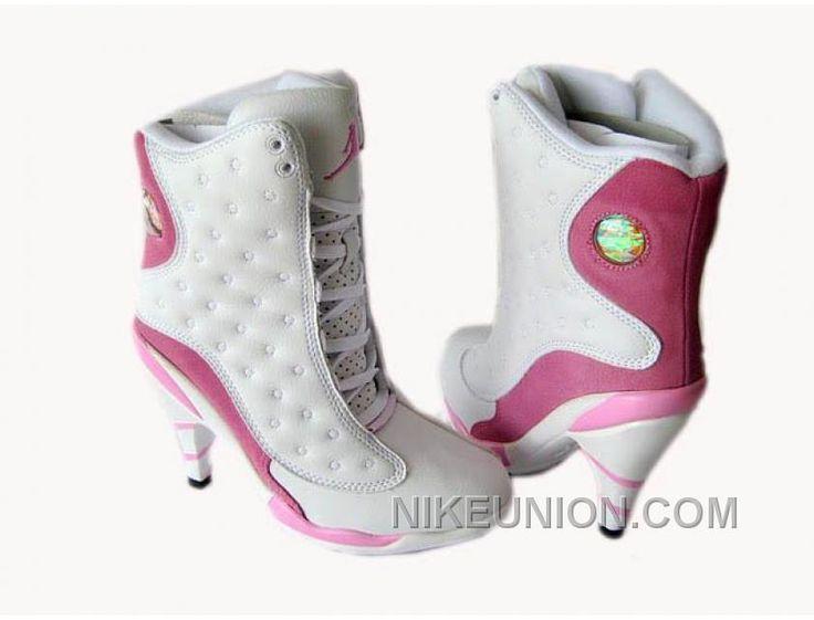 http://www.nikeunion.com/air-jordan-13-high-heels-white-pink-best.html AIR JORDAN 13 HIGH HEELS WHITE PINK BEST Only $80.56 , Free Shipping!