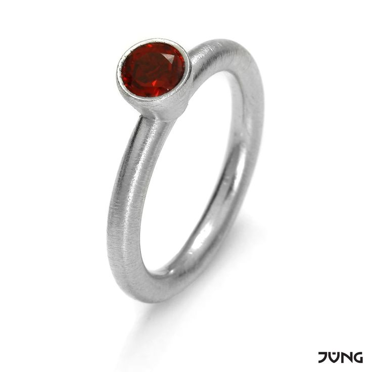 silver ring with granet  http://en.dawanda.com/product/95077031-silver-ring-with-garnet