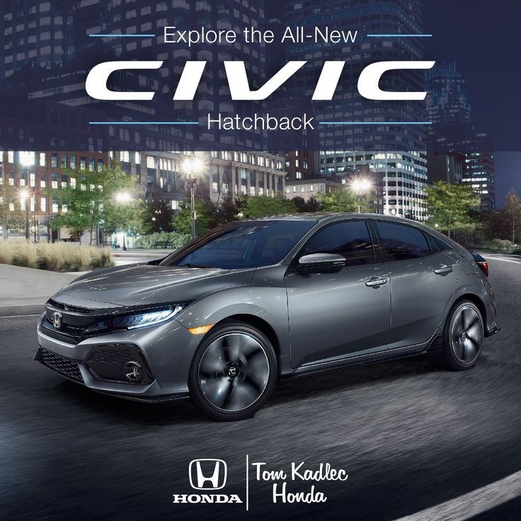 Say hello to the all-new 2017 Honda Civic Hatchback! Learn more at http://www.tomkadlec.com/civichatchback.html
