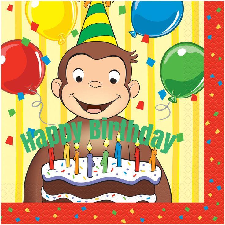Terrific 12 Best Curious George Birthday Cards Images On Pinterest Personalised Birthday Cards Veneteletsinfo