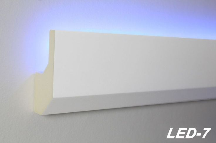 10 Meter LED Profil PU Stuckleiste indirekte Beleuchtung stoßfest 80x33, LED-7