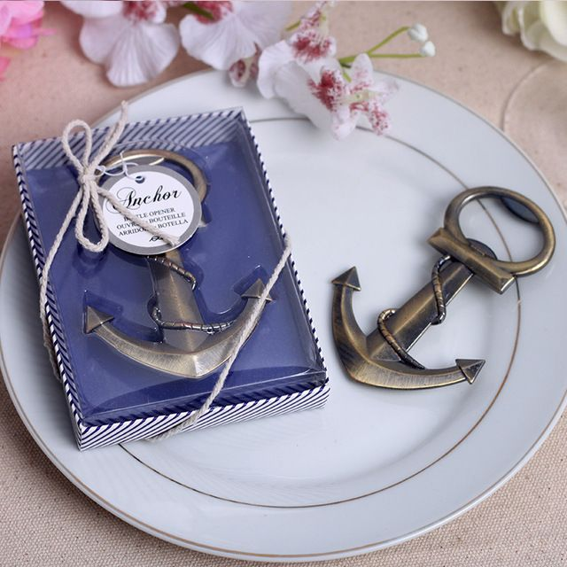 Free Shipping 20pcs Vintage Wedding Supplies Personalized Anchor Beer Bottle Opener Wedding Party Favors and Gifts