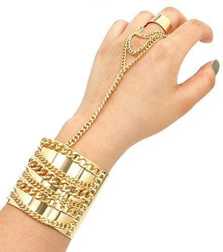 Gold Slave Bracelet With Ring Best Bracelets