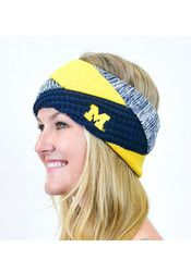 Michigan Wolverines Criss Cross Womens Headband