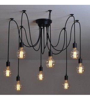 8 Heads Thomas Edison Bulb Chandelier Pendant Light Replica                                                                                                                                                     More