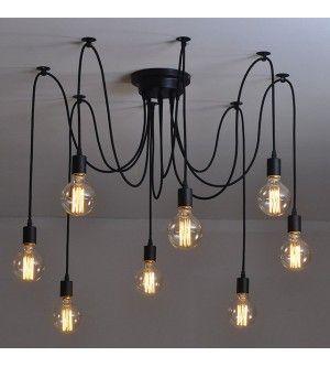 8 Heads Thomas Edison Bulb Chandelier Pendant Light Replica