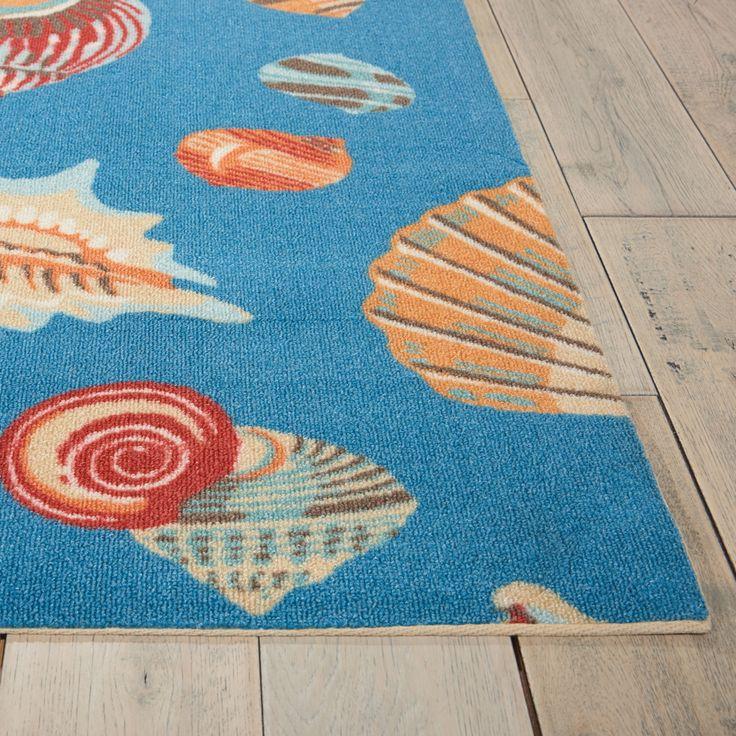 Waverly Sun N Shade Abstract Shells Indoor Outdoor Rug Shade