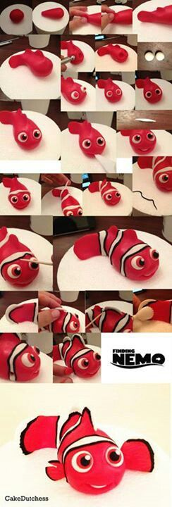 DIY Fondant Clown Fish Nemo Tutorial - For all your cake decorating supplies, please visit craftcompany.co.uk