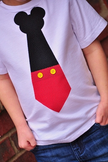 Little Man - Mickey Tie-mickey, mouse, birthday, tie, classic, red, disney, vacation