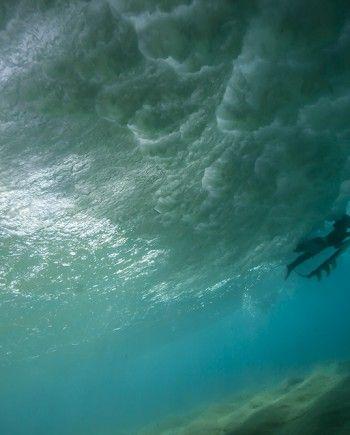 Duck Dive   ocean photograph by Sean Ruttkay   edasurf.com