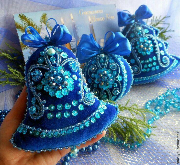 Felt Bell Ornaments