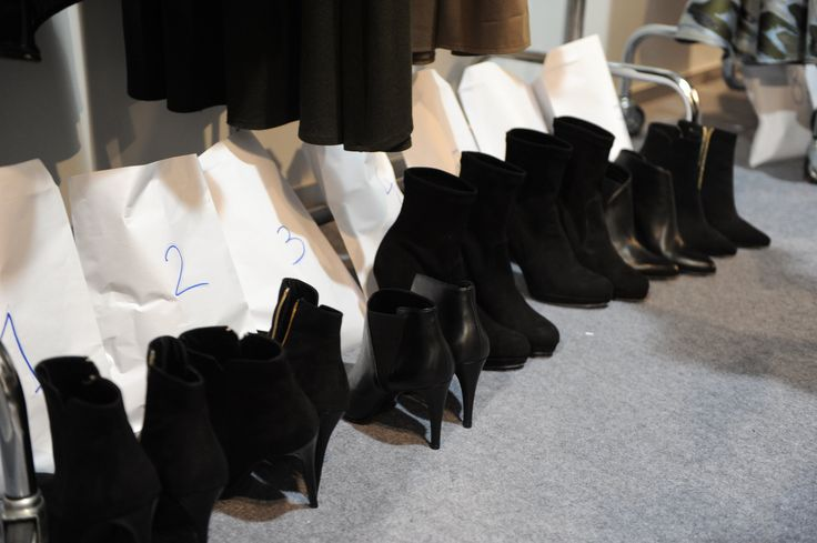 Modelove fashion show backstage. Lot of Primamoda shoes...