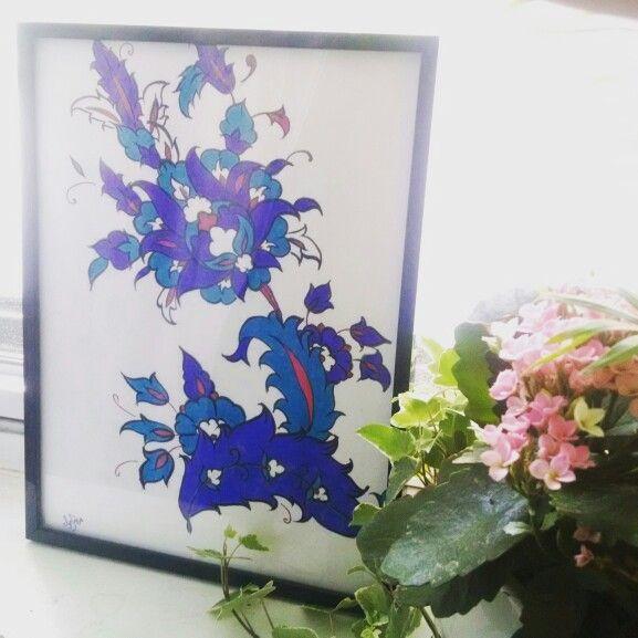 Artist: Maria Ramoul #mywork #ottomanstylepattern #islamicart #iznik