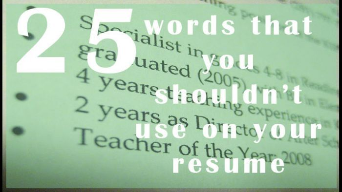 SLIDESHOW: 25 words you shouldn't use on your resume - WBTV 3 News, Weather, Sports, and Traffic for Charlotte, NC