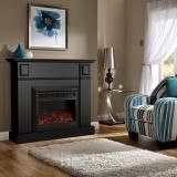 Luxo Grace 1600W Electric Fireplace Heater - Black