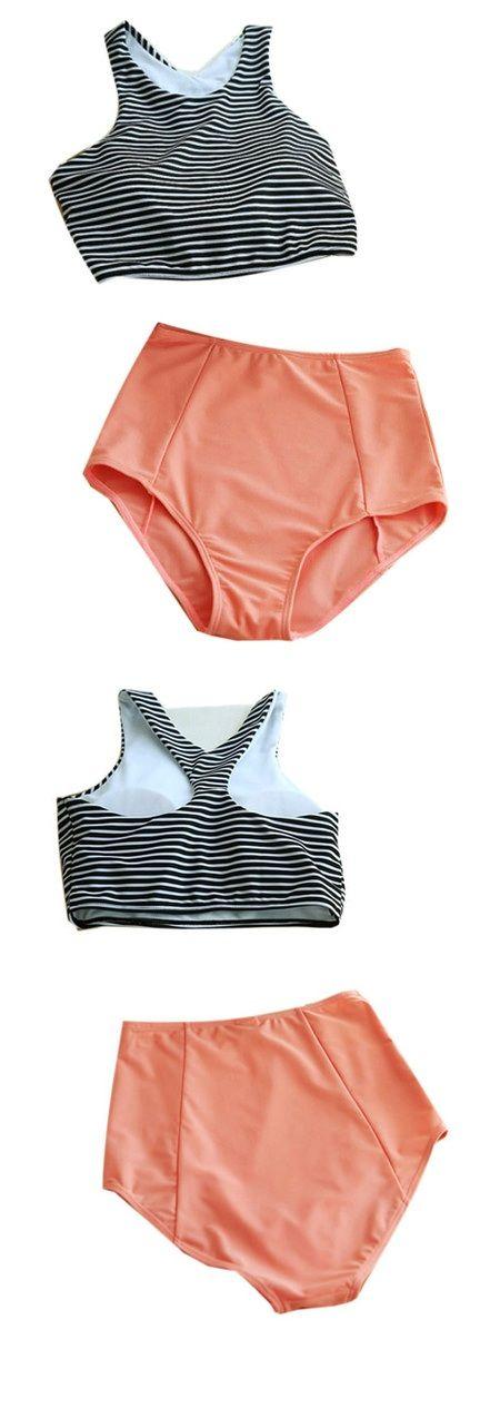 Striped Top With Bikini Swimwear perfect for spring break