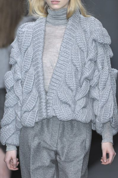 Textured Knit Cardigan - fashion details; contemporary knitwear // Pringle of Scotland Fall 2009
