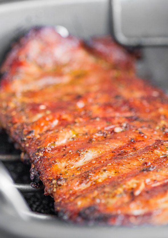 Rack of pork ribs grill recipe
