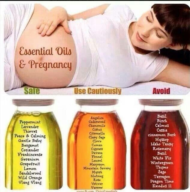 Pregnancy essential oils