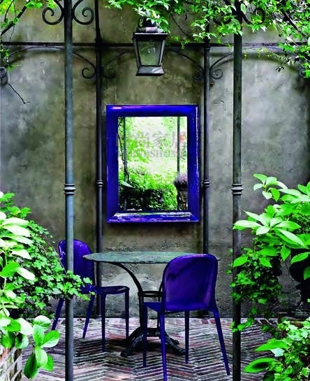 mirror in the small garden