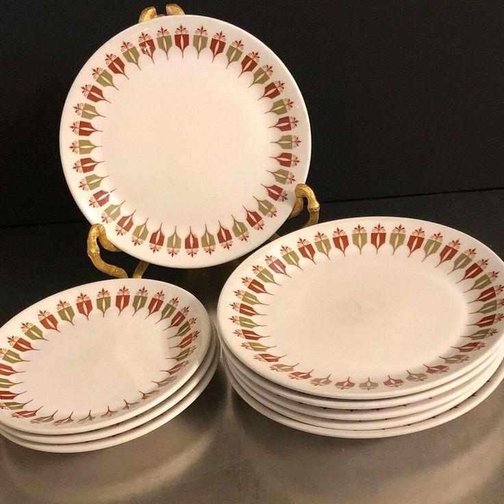 VTG Syracuse China Plates Captains Table Set 9 Restaurant