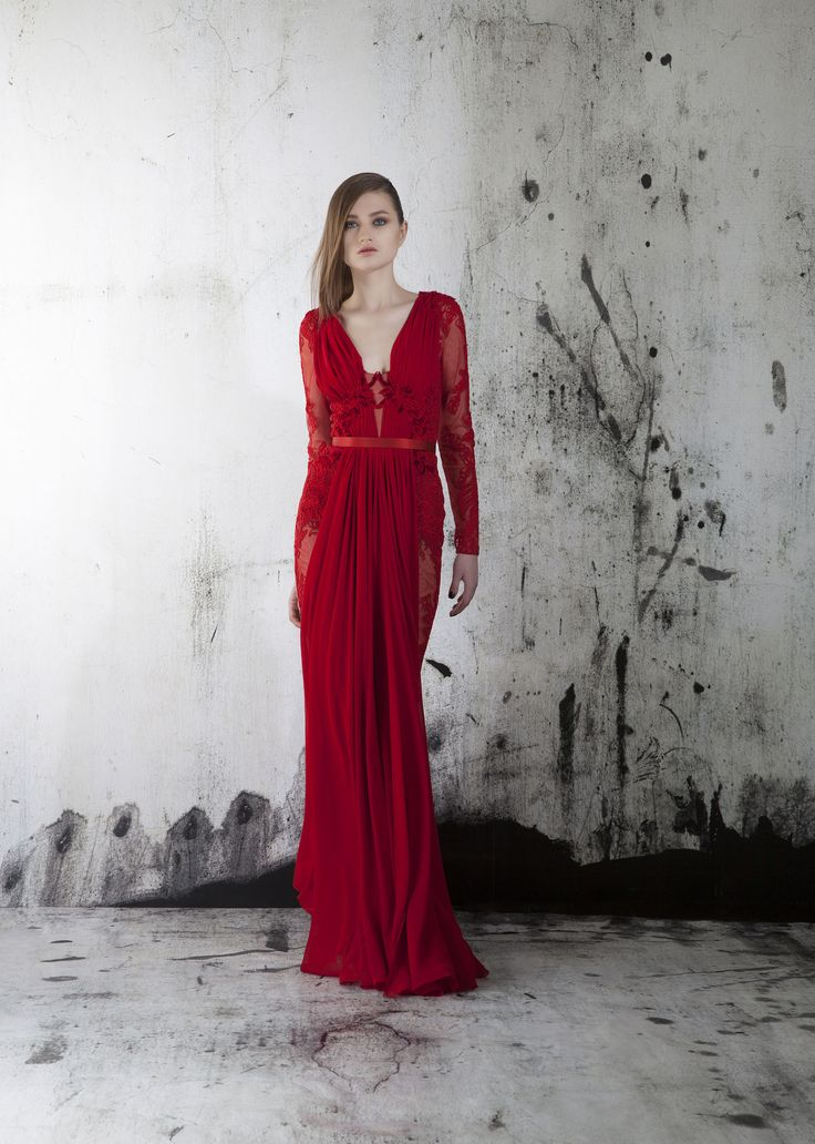 Red evening gown long dress evening fashion occasion